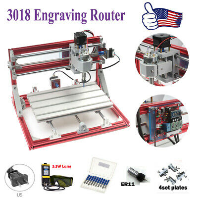 Cnc 3018 Engraving Router 5.5w Laser Module Carving Milling Cutting Machines