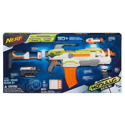 NERF N-STRIKE MODULUS ECS-10 BLASTER SHOOTING GAME BANANA CLIP DARTS GUN SCOPE