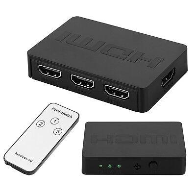 3x1 HDMI Splitter Switcher 3 Port Hub Box Auto Switch 3 In 1 Out 1080P HD 3D