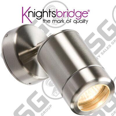 Knightsbridge 230V IP65 GU10 35W Single Stainless Steel Adjustable Wall Light