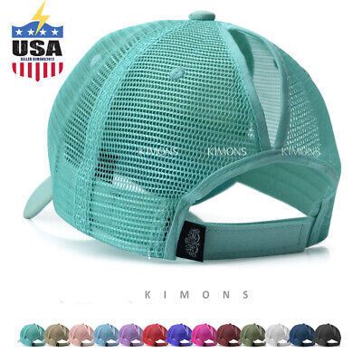 Womens Trucker Hat (Ponytail Baseball Cap Messy High Buns Mesh Trucker Visor Summer Beach Hat)