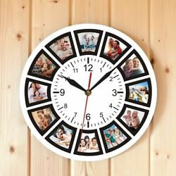 Creative Your Own Personalized Family Photos Collage Home Wall Clock Watch 30*30
