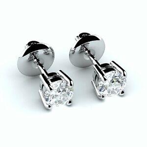 F-VVS-0-40-Carat-Round-Diamond-Stud-Earring-18k-White-Gold-Screw-Back