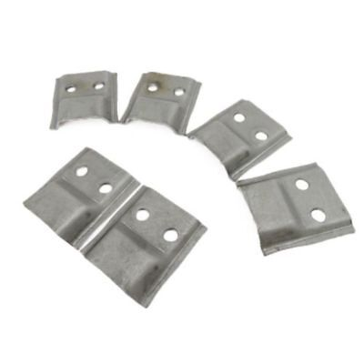 Corvette NEW Bird Cage Channel Lower Tab Set of 6 1968-1969
