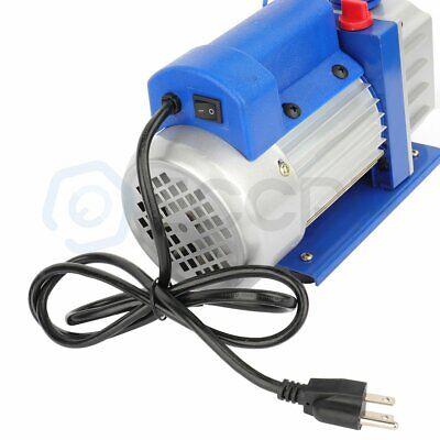 New Rotary Vane Deep Vacuum Pump Hvac Ac Refrigerant Charge 110v 12 Cfm 2 Hp