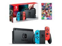 Nintendo Switch with Zelda, Mario Kart and Wheels