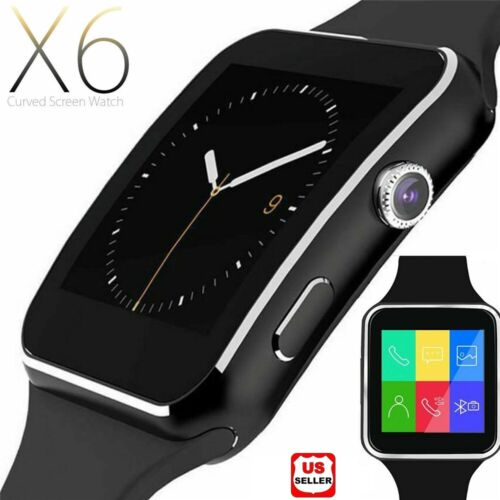 Smart watch iPhone Android IOS with SIM Bluetooth Smart Watch x6 Touch Screen Cell Phones & Accessories