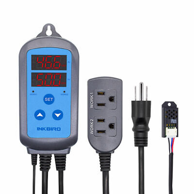 Inkbird Pre-wired Digital Humidity Controller Ihc-200 Humidistat Hygrometer 110v
