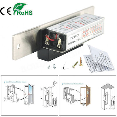 12v Stainless Steel Electric Strike Lock Door Access Control System Fail Secure