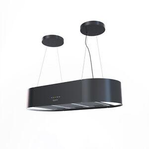 bergstroem design hotte de cuisine lot en suspension acier inox hotte noir ebay. Black Bedroom Furniture Sets. Home Design Ideas