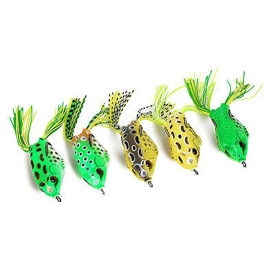 USA 5Pcs Fishing Lures Large Frog Topwater Crankbait Hooks Bass Bait Tackle