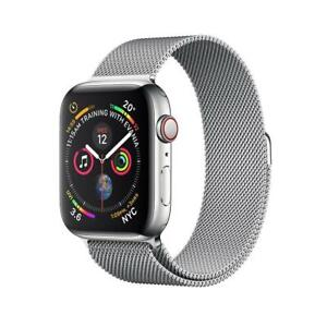Apple Watch Series 4 - 40mm (GPS+Cellular) Stainless Steel Case with Milanese Loop Brand New Sealed W/ 1 Year Apple Warr