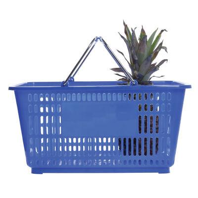 Hubert Blue Plastic Shopping Basket 32 Liter - 20l X 14w X 9 38d