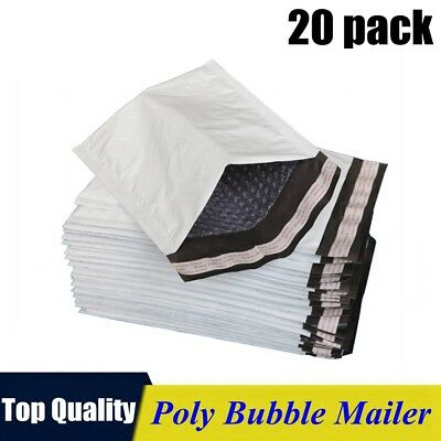 20pack 0 6x10 Poly Bubble Mailers Padded Envelope Shipping Supply Bags 6x10