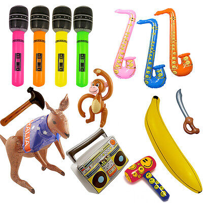 Inflatable Guitar Blow Up Banana Saxophone Birthday Toy Adult Fancy Party Dress (Blow Up Saxophone)