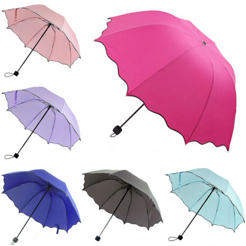 Portable Folding Umbrella Windproof Anti UV Rain Travel Comp