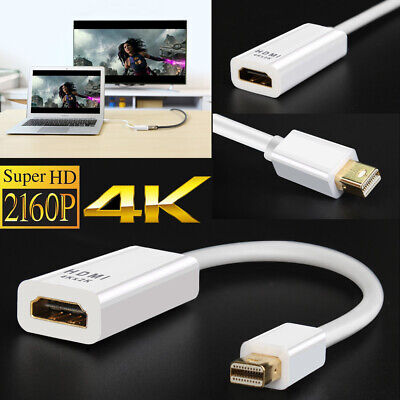 4K UHD MDP Mini DisplayPort to HDMI Adapter for MacBook Pro Air Surface Pro