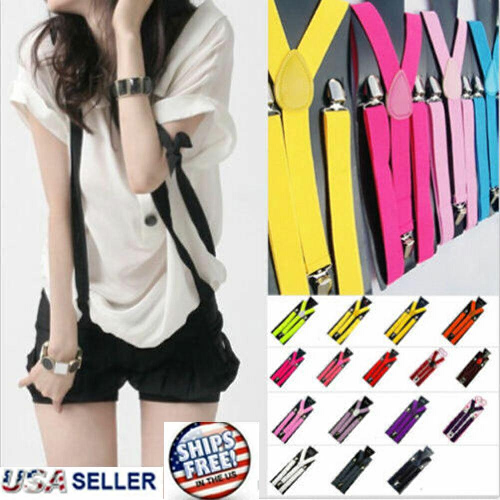 Suspenders Braces Men Women Y-Shape Back Clip-on Elastic Adjustable Trousers NEW Clothing, Shoes & Accessories