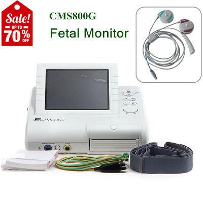 Fetale Überwachung (CMS800G Fetal Monitor Überwachung FHR / TOCO / Fetal Mark Ultraschallsonde,Alarm)