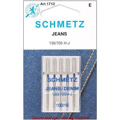Schmetz Denim Jeans Sewing Machine Needles 15x1 Size 16 Sing