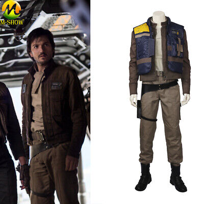 Handmade Star Wars Halloween Costumes (Cassian Andor Cosplay Costume Rogue One A Star Wars Story Cosplay Suit)