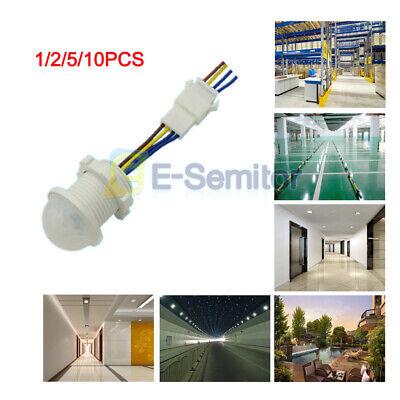 12510pcs Pir Infrared Body Motion Sensor Automatic Led Light Lamp Switch 220v