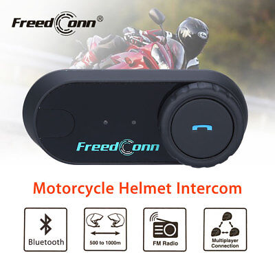 FDC  TCOM 2.4Ghz Motorcycle BT Intercom Interphone FM Radio+Soft Line Headset
