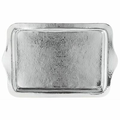 HUBERT Serving Tray With Hammer Finish Stainless Steel Recta