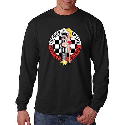 Bigger Spark Better Bang Car Auto Racing Hot Rat Rod Long Sleeve T-Shirt