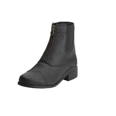 Childs Zip Paddock Boot - NEW Ariat Kid's Scout Zip Paddock Boot Leather Upper Duratread Outsole Brass Zip