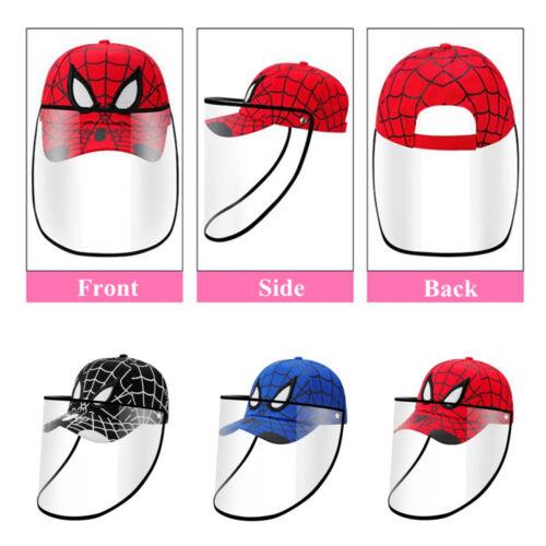 Safety Shield Full Protective Baseball Cap Detachable Anti Splash Kids Adult Hat