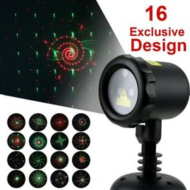 16 Pattern Garden Light, Waterproof Christmas Landscape and Garden Decoration Radio Frequency Remote