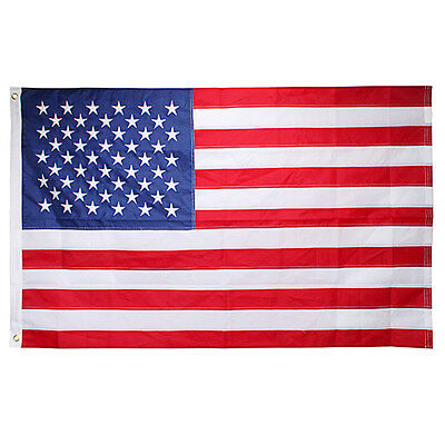 3'x5' ft American Flag USA US U.S. Embroidered Stars Sewn Stripes Brass Grommets