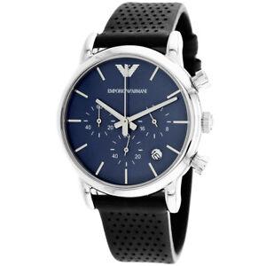 0079fc33ca022 Mens Blue Chronograph Emporio Armani AR1736 723763203883 for sale ...