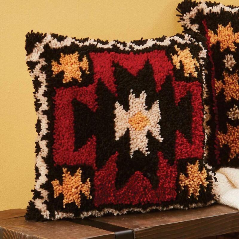 Herrschners® Southwest Art Pillow I Latch Hook Kit