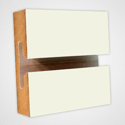 Horizontal Slatwall Panels In White With 4 Feet H X 8 Feet W - Lot Of 2
