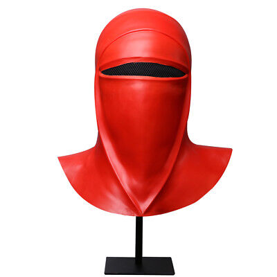 New Star Wars Imperial Guard Helmet Royal Guard Cosplay Red Mask Latex Full Head (Imperial Guard Mask)