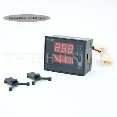 Hj-502 Generator Digital Display Meter 5 In 1 Power Frequency Meter Three Phase