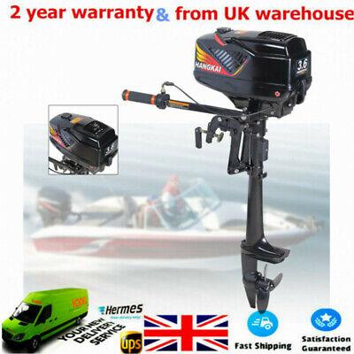 Outboard Engine Motor 3.6HP 2 Stroke Short Shaft Dinghy Kayak Inflatable Boat