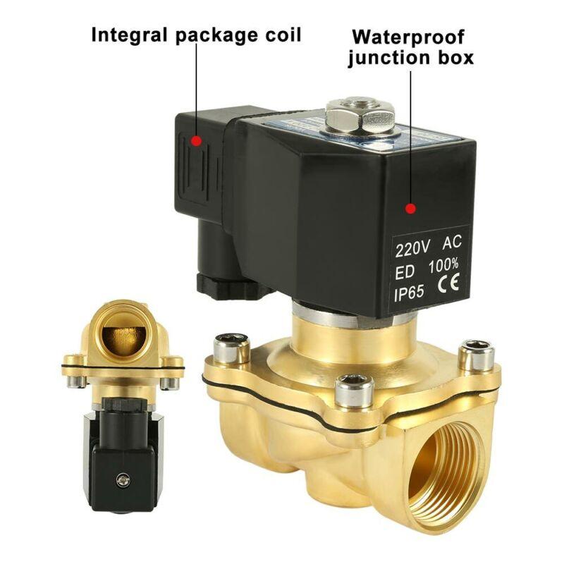 Wasserventil DC 12V Wasserelektrisches Magnetventil Magnetventil Schnellkupplung Normalerweise Geschlossen 1-Pack