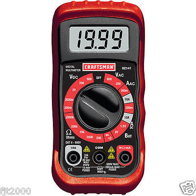 Craftsman 34-82141 Digital Multimeter With 8 Functions 20 Ranges Fast Shipping