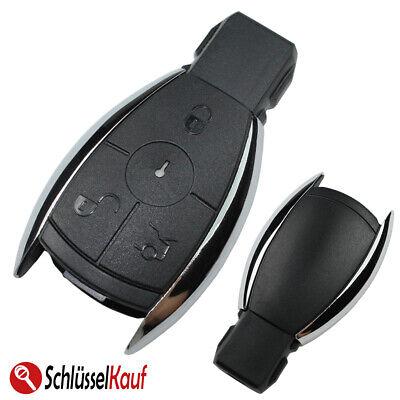 Autoschlüssel 3 Tasten Gehäuse Chrom passend für Mercedes Benz W203 W204 W211