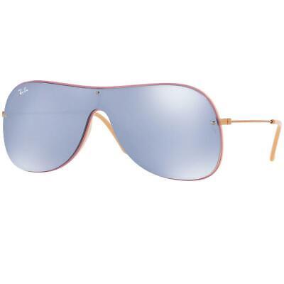 Ray-Ban Unisex Sunglasses W/Dark Violet Mirrored Silver Lens RB4311N (Dark Lens Ray Bans)
