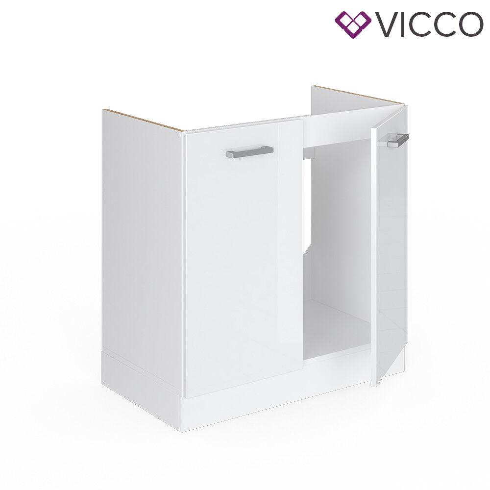 VICCO Küchenschrank Hängeschrank Unterschrank Küchenzeile R-Line Spülenunterschrank 80 cm weiß