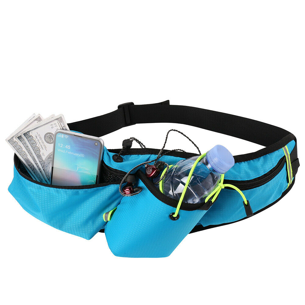 Running Belt Waist Pack Fanny Pouch Water Bottle Holder For