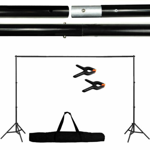 Adjustable Background Support Stand Photo Video Backdrop Kit Photography 10Ft
