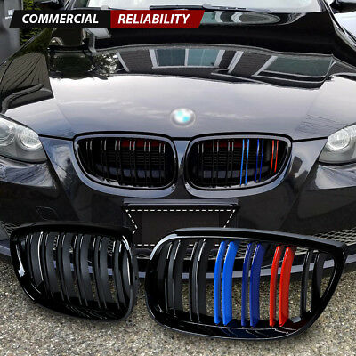 - Gloss Black Front Kidney Grill M-Color for BMW E92 E93 M3 328i 335i Coupe 07-10