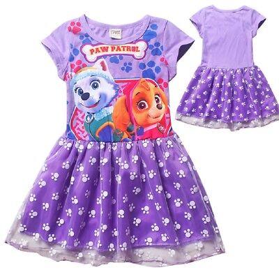 US STOCK Baby Kids Girls Paw Patrol Everest Skye Skirt Fancy Dress Costume O74