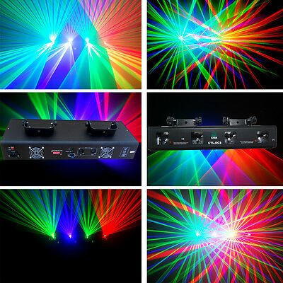 4 lens 250mw RGV DMX disco dj Party laser stage Lighting show equipment projecto - Party Equipment