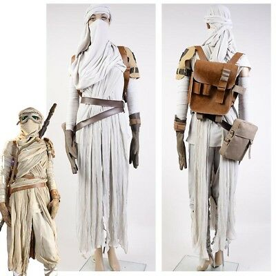 Star Wars 7 The Force Awakens Rey Daisy Ridley Costume Suit Outfit Dress Cosplay - Daisy Costume